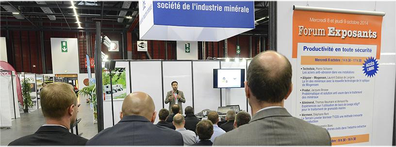 Forum exposants congrès société de l'industrie minérale