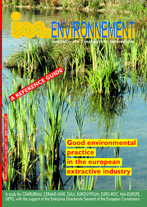 Good Environmental Practices  in the European Extractive Industry